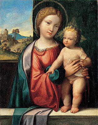 Benvenuto Tisi Painting - Madonna With The Child by Benvenuto Tisi
