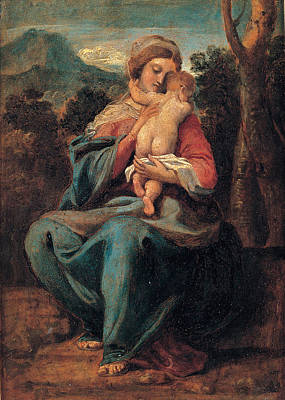 Painting - Madonna With The Child by Sisto Badalocchio