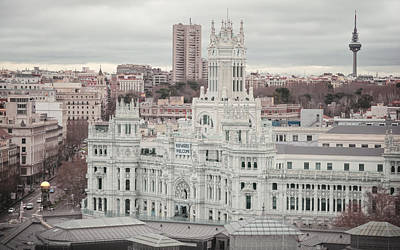 City Hall Photograph - Madrid City Hall II by Joan Carroll