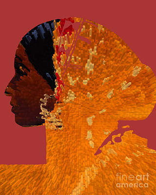 Maferefun Ochun Yoruba Print by Liz Loz