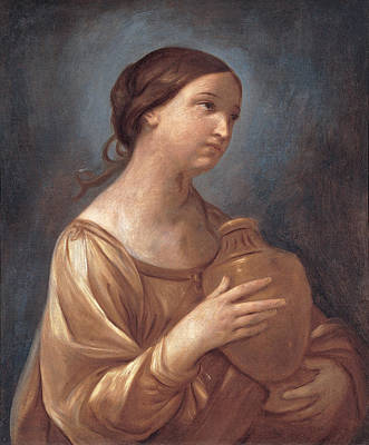 Guido Reni Painting - Magdalene With The Jar Of Ointment by Guido Reni