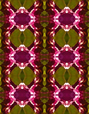 Abstract Pattern Painting - Magenta Crystal Pattern by Amy Vangsgard