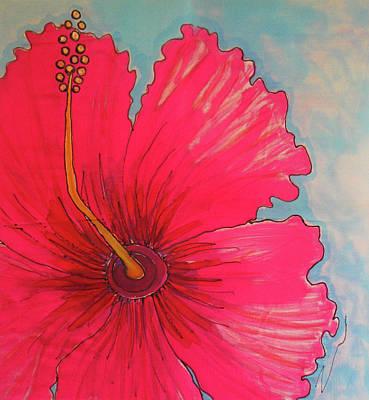 Magenta Hibiscus Print by Kelly     ZumBerge