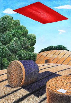 Cornfield Mixed Media - Magic Carpet Landscape Ride by Adrian Jones