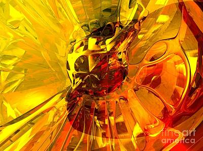 Magic Honeycomb Abstract Print by Alexander Butler