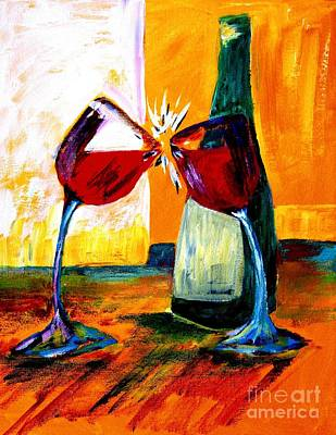 Wine Glass Painting - Magic by Julie Lueders