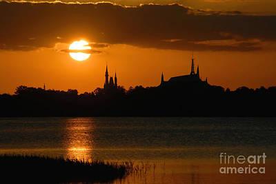 Orlando Photograph - Magic Kingdom Sunset by David Lee Thompson