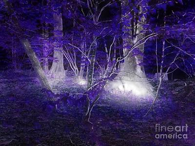 Magic Lives Within The Forest Print by Roxy Riou