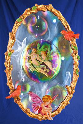 Friendly Digital Art - Magic Mirror In The Castle Of The Fairies by John Haldane