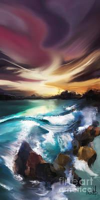 Reef Shark Mixed Media - Magic Seascape by Melanie D