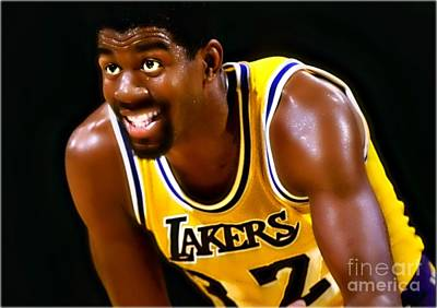 Magic Johnson Painting - Magic by Wbk