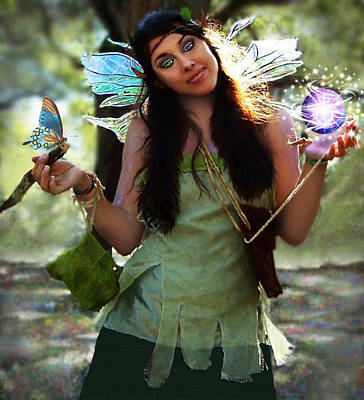 Mixed Media - Magical Faerie by Steven Peters