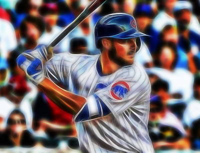 Chicago Baseball Drawing - Magical Kris Bryant by Paul Van Scott
