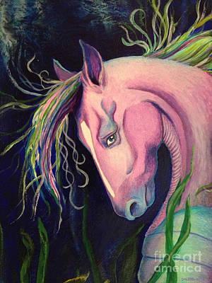 Seahorse Mixed Media - Magical by Linda Dalziel