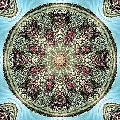 Magical Mosaic - Shamanic Power Circle 2 Print by Sofia Metal Queen