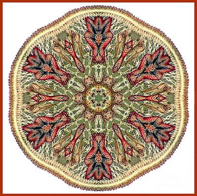 Magical Mosaic - Shamanic Power Circle 3 Print by Sofia Metal Queen