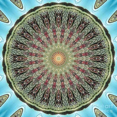 Magical Mosaic - Shamanic Power Circle 4 Print by Sofia Metal Queen