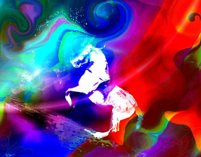 Dramatic Photograph - Magical Rocking Horse Series 3 by Abstract Angel Artist Stephen K