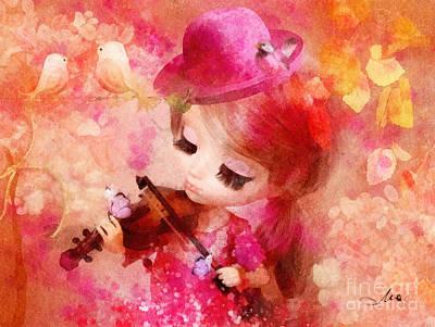 Violin Mixed Media - Magical Violin by Mo T