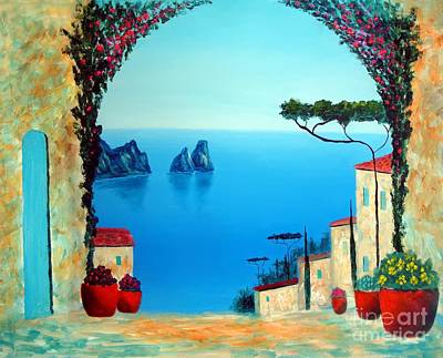 Italy Mediterranean Art Tuscany Painting - Magnificent Capri by Larry Cirigliano