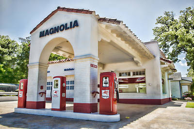 Pegasus Photograph - Magnolia Gas - Little Rock by Stephen Stookey