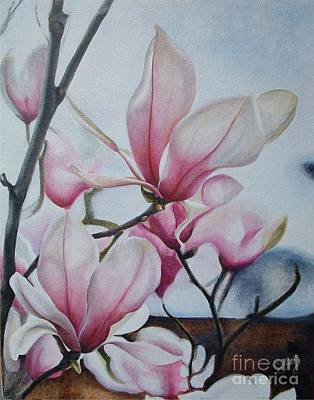 Magnolia Reach Print by Daniela Easter