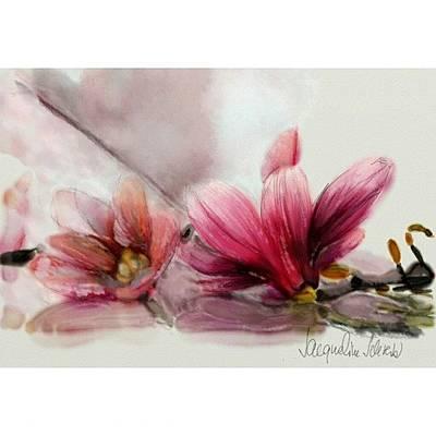 Digital Art - Magnolien .... by Jacqueline Schreiber
