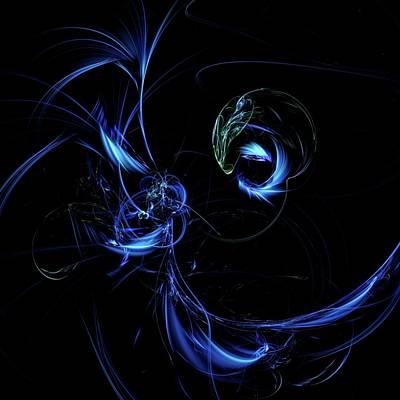Magpies Digital Art - Magpie's Moon by Burtram Anton
