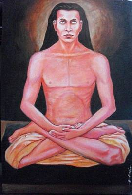 Baba Painting - Mahaavatar Baba Ji by Hari Nepali