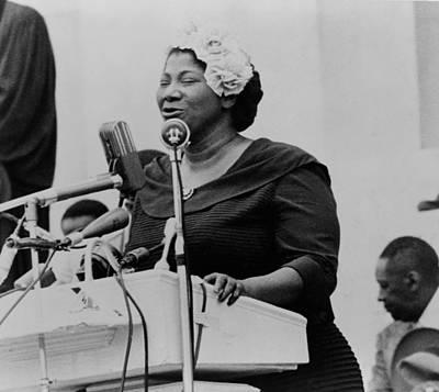 Mahalia Jackson Photograph - Mahalia Jackson 1911-1972, Singing by Everett