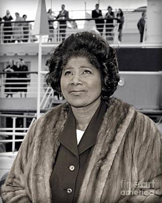 Mahalia Jackson Photograph - Mahalia Jackson 1963 by Martin Konopacki Restoration