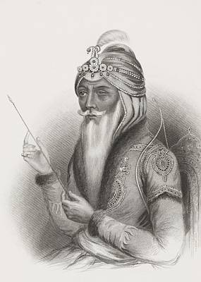 Maharaja Ranjit Singh 1780 - 1839 Also Print by Vintage Design Pics