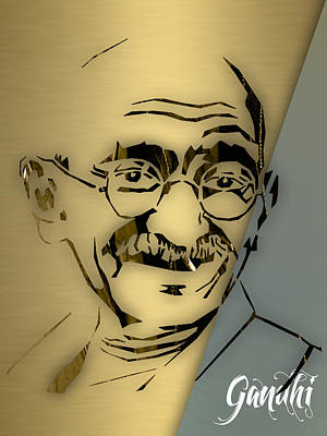 Gandhi Mixed Media - Mahatma Gandhi Collection by Marvin Blaine