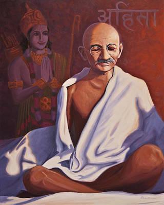 Gandhi Painting - Mahatma Gandhi by Steve Simon