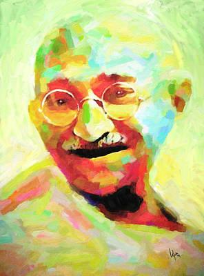Gandhi Painting - Mahatma Gandhi by Vya Artist