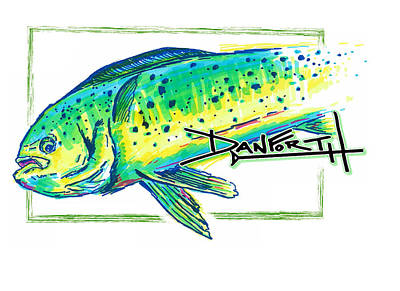 Swordfish Mixed Media - Mahi Mahi Artwork by David Danforth