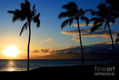 Mai Ka Aina Mai Ke Kai Kaanapali Maui Hawaii Print by Sharon Mau
