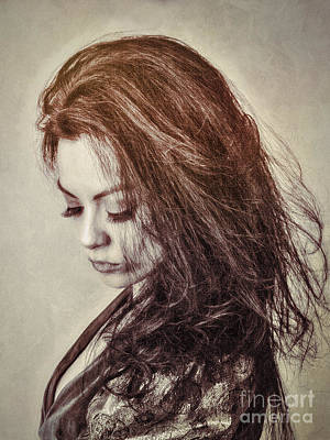 Females Photograph - Maid In Burnt Sienna  ... by Chuck Caramella