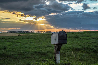 Mail Box In North Dakota  Print by John McGraw