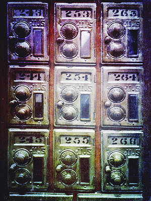 Mail Box Photograph - Mail Boxes by Skip Nall