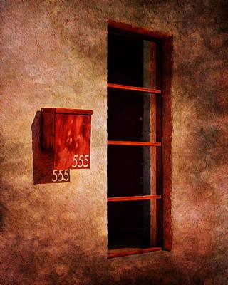 Mailbox - Window - 555 Print by Nikolyn McDonald