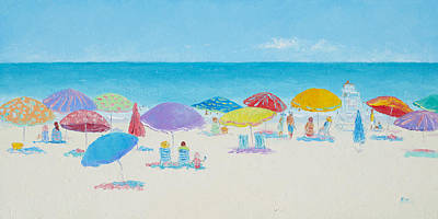 Main Beach East Hampton  Print by Jan Matson