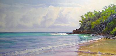 Painting - Main Beach Noosa Heads Queensland Australia by Chris Hobel