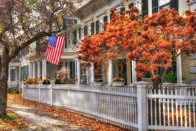 Autumn Scenes Photograph - Main St. Usa - Woodstock, Vermont by Joann Vitali