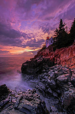 Lighthouses Photograph - Maine Bass Harbor Lighthouse by Juergen Roth