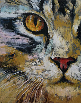 Realist Painting - Maine Coon by Michael Creese
