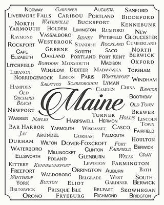 Maine Print by Finlay McNevin