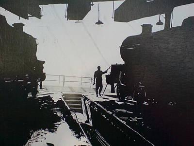 Maintenance Sheds Holbeck Leeds Print by Andy Davis