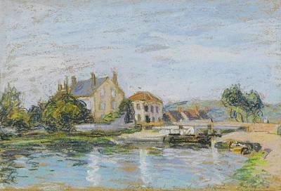 Maisons Au Bord Print by Alfred Sisley