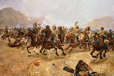 Artillery Painting - Maiwand by Richard Caton II Woodville